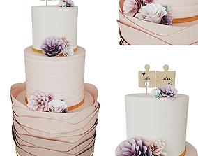 3D model Wedding Cake cream