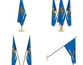 Oklahoma Flag Pack 3D