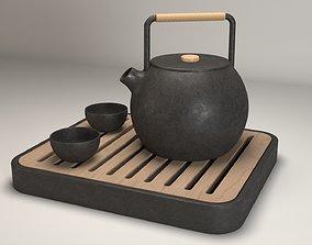 tea 3D model Tea Set
