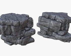 3D asset Game Ready PBR Stone Cliff