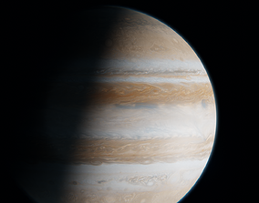 Jupiter With Photo Realistic Atmosphere 3D