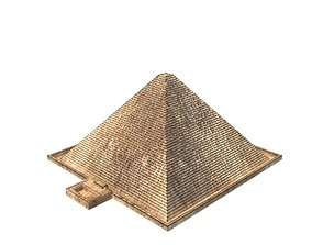 3D asset low-poly Pyramid of Cheops