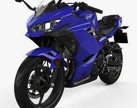 3D Kawasaki Ninja 400 2018