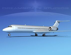 3D model Boeing 717-200 Bare Metal