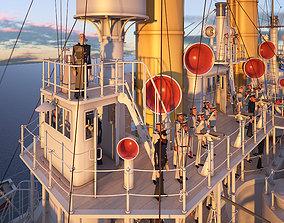 Battleship Petropavlovsk 1899 3D