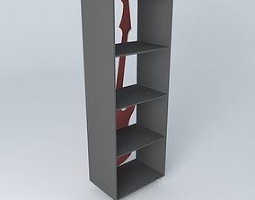 Red guitar shelf ROCK Maisons du Monde 3D
