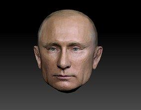 VR / AR ready Hyperrealistic Putin 3D Head