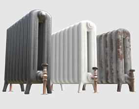 Game-ready radiator- 3 different materials 3D