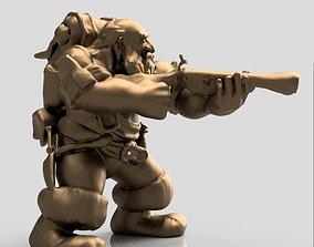 Fantasy Dwarf Hunter 3D print model