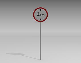 3D Maximum height sign