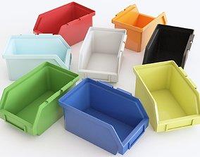 Plastic Storage Bin 3D