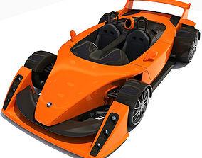 Orange Hulme CanAm Supercar 3D model