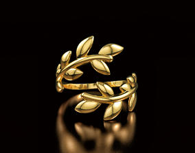 3D printable model Tiffany Olive Leaf Bypass Ring