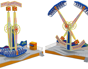 3D model Funfair Rider