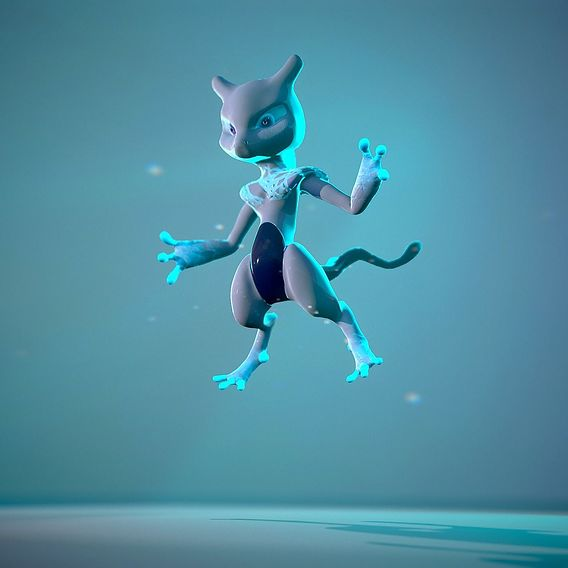 Mewtwo rigged render