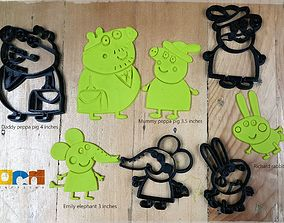 Peppa Pig Family cutter 3D print model