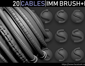 3D model Zbrush - Cables IMM Brush and Meshes