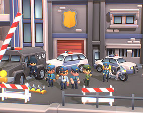 Police Station - Smashy Craft Series 3D model