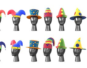 Clown Hats 3D model