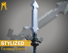 3D model Stylized Fantasy Sword - Game Ready