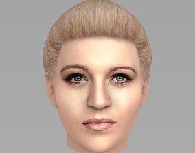 3D Beautiful woman head TYPE 2