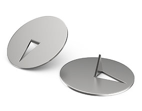 Metal stationery buttons 3D model
