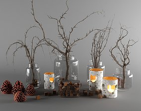 rustic vase set 3D