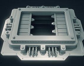 3D SciFi Garbage Chute