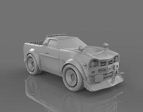 Cartoon vehicle 3D printable model