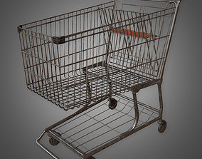 3D model realtime Shopping Cart - PBR Game Ready