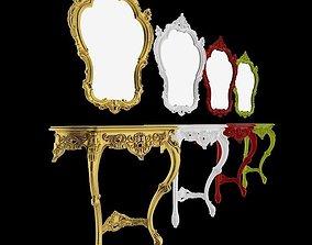 Creazioni - Ernestina - console and mirror 3D