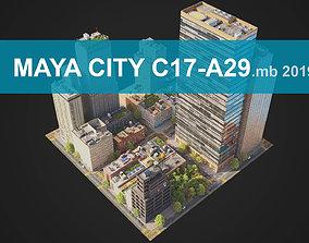 City District C17-A29 MAYA 3D model