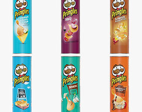 3D model Pringles Potato Chips snack