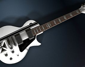 James Hetfield ESP JH IRON CROSS White 3D model