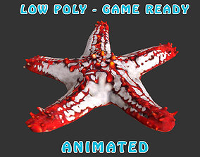 Low poly Star Fish Animated - Game Ready 3D model