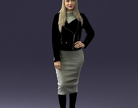 Fashion woman in grey skirt 0364 3D model