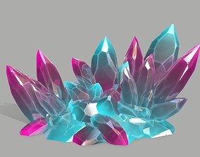 Crystal Set 3D model low-poly rocks