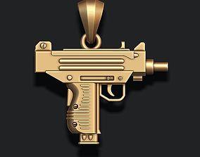 3D print model automat gun pendant