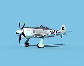 3D model Hawker Sea Fury MKII V02 RN