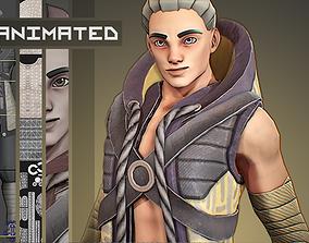 Aki - Stylized Character 3D asset