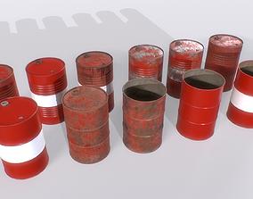 3D asset Barrel PBR Pack 1 tin