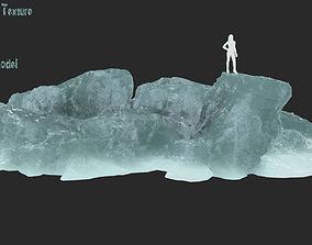 iced 3D asset VR / AR ready iceberg
