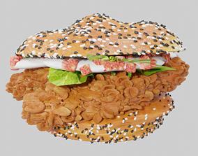3D model Burger from KFC