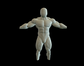 Human Anatomy - Man 3D model muscles