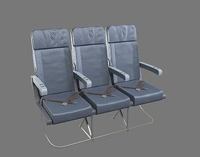 safety 3D model Aircraft Seat
