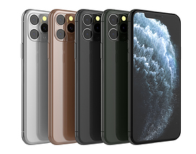 3D model iPhone 11 Pro Collection