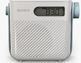 Sony ICF-S80 splash proof shower radio 3D asset