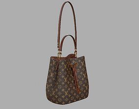 Louis Vuitton Neonoe MM Bag Monogram Caramel Brown 3D