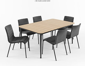 3D CORE Chair and Table by CANE-LINE