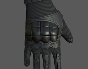 Gloves military combat soldier armor scifi 3D asset